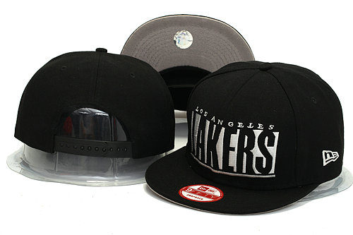 Los Angeles Lakers Black Snapback Hat YS 0613
